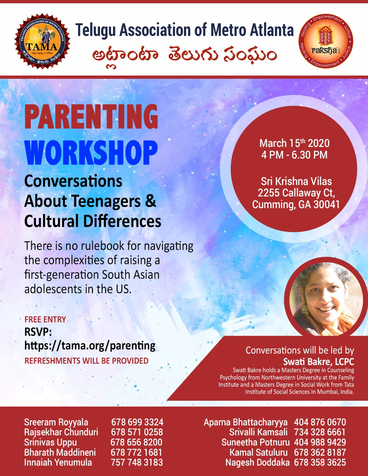 TAMA Parenting Workshop